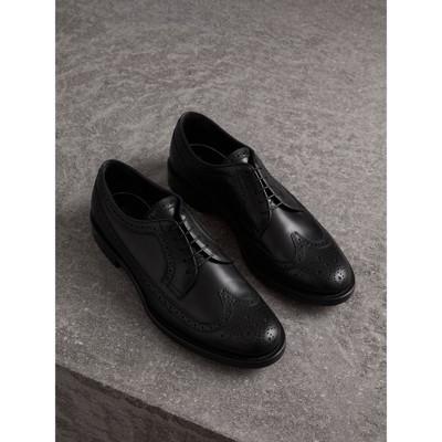 Burberry - Chaussures richelieu de style derby en cuir - 1
