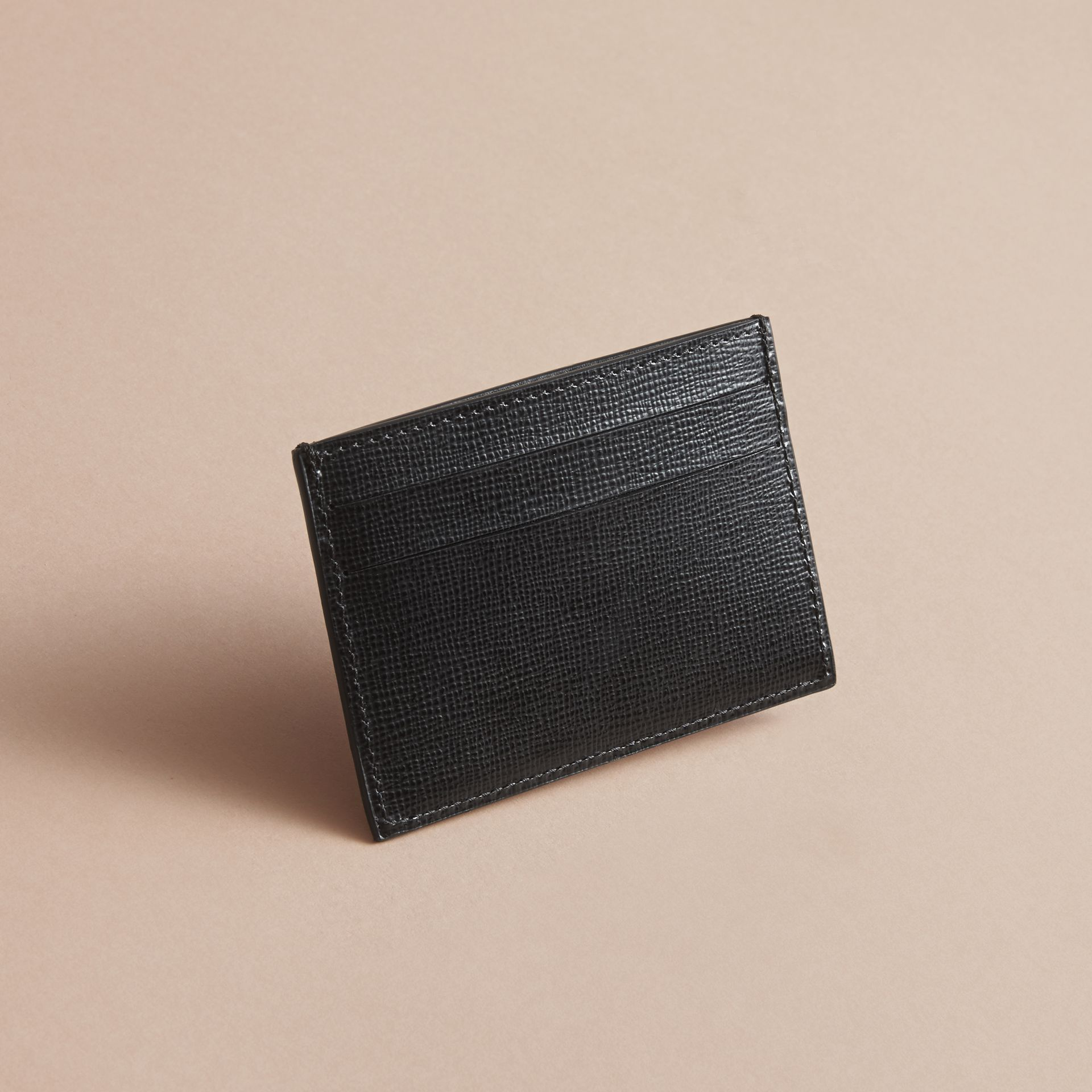 Pallas Heads Print Leather Card Case - gallery image 3