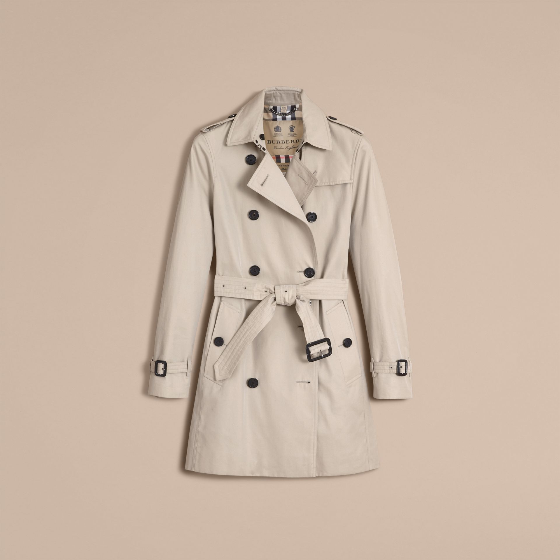 The Kensington – Mid-Length Heritage Trench Coat in Stone - Women | Burberry - gallery image 4