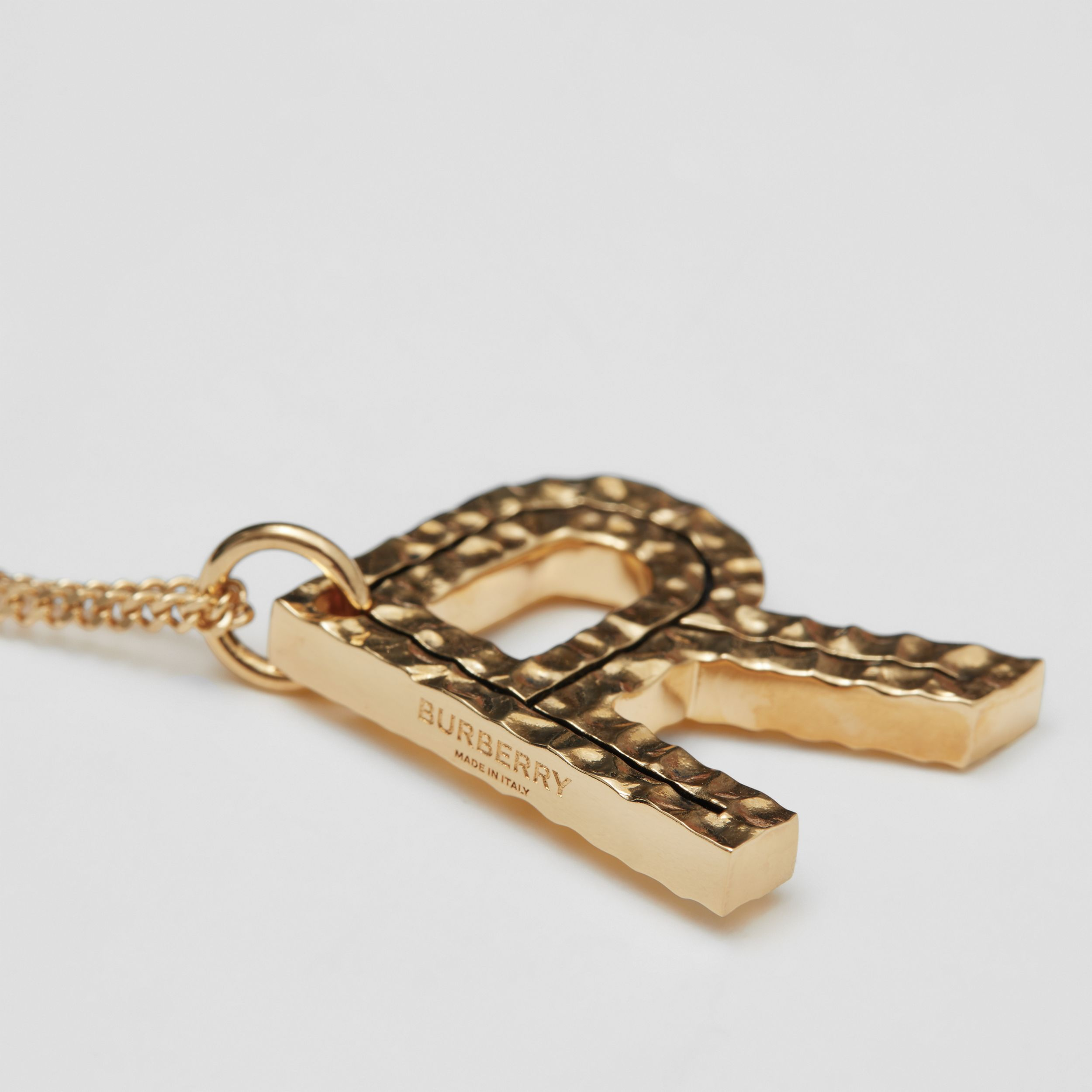'R' Alphabet Charm Gold-plated Necklace in Light - Women | Burberry - 2