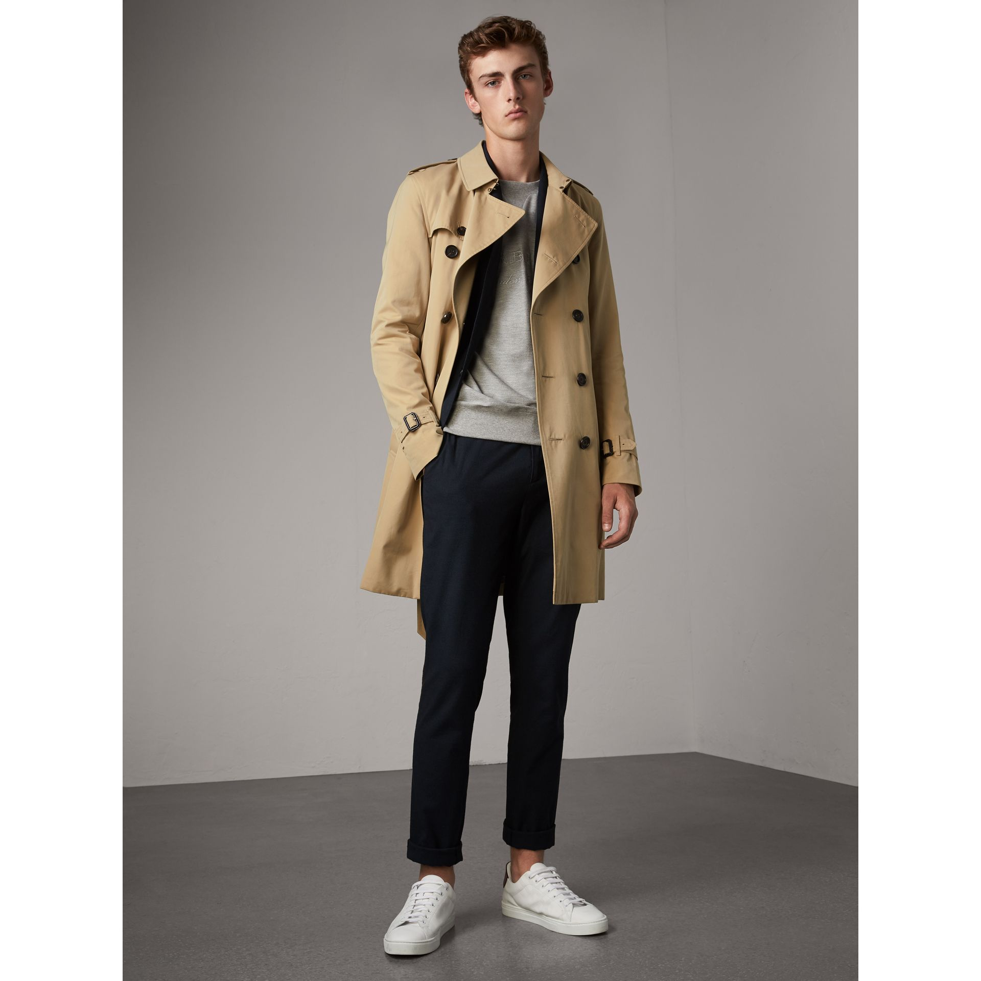The Sandringham – Long Trench Coat in Honey - Men | Burberry United States - gallery image 1