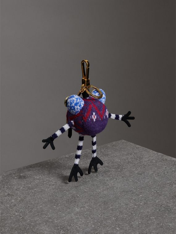 Doris The Frog Wool Charm in Navy | Burberry United Kingdom - cell image 3