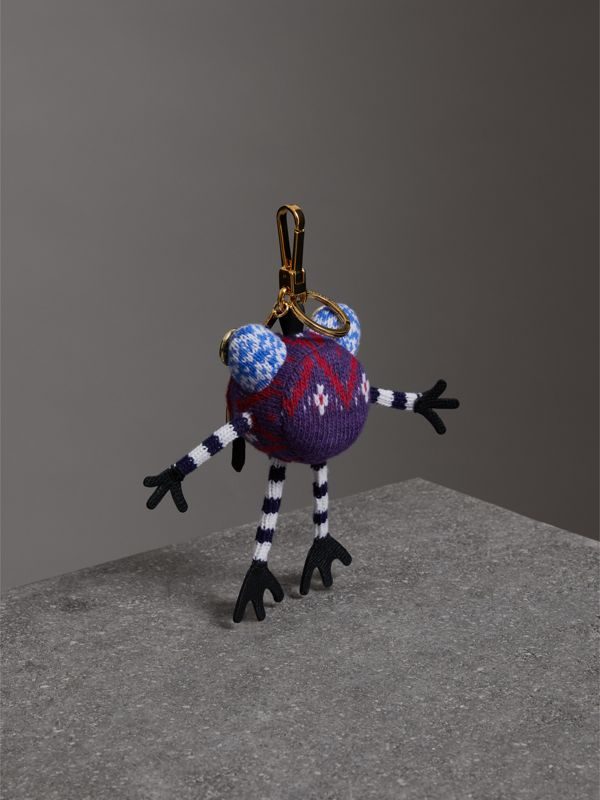 Doris The Frog Wool Charm in Navy | Burberry - cell image 3