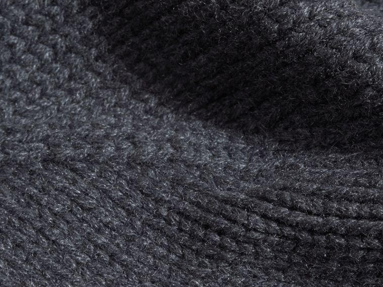 Charcoal Knitted Cashmere Beanie - cell image 1