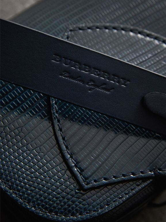The Satchel in Lizard in Navy - Women | Burberry Hong Kong - cell image 1