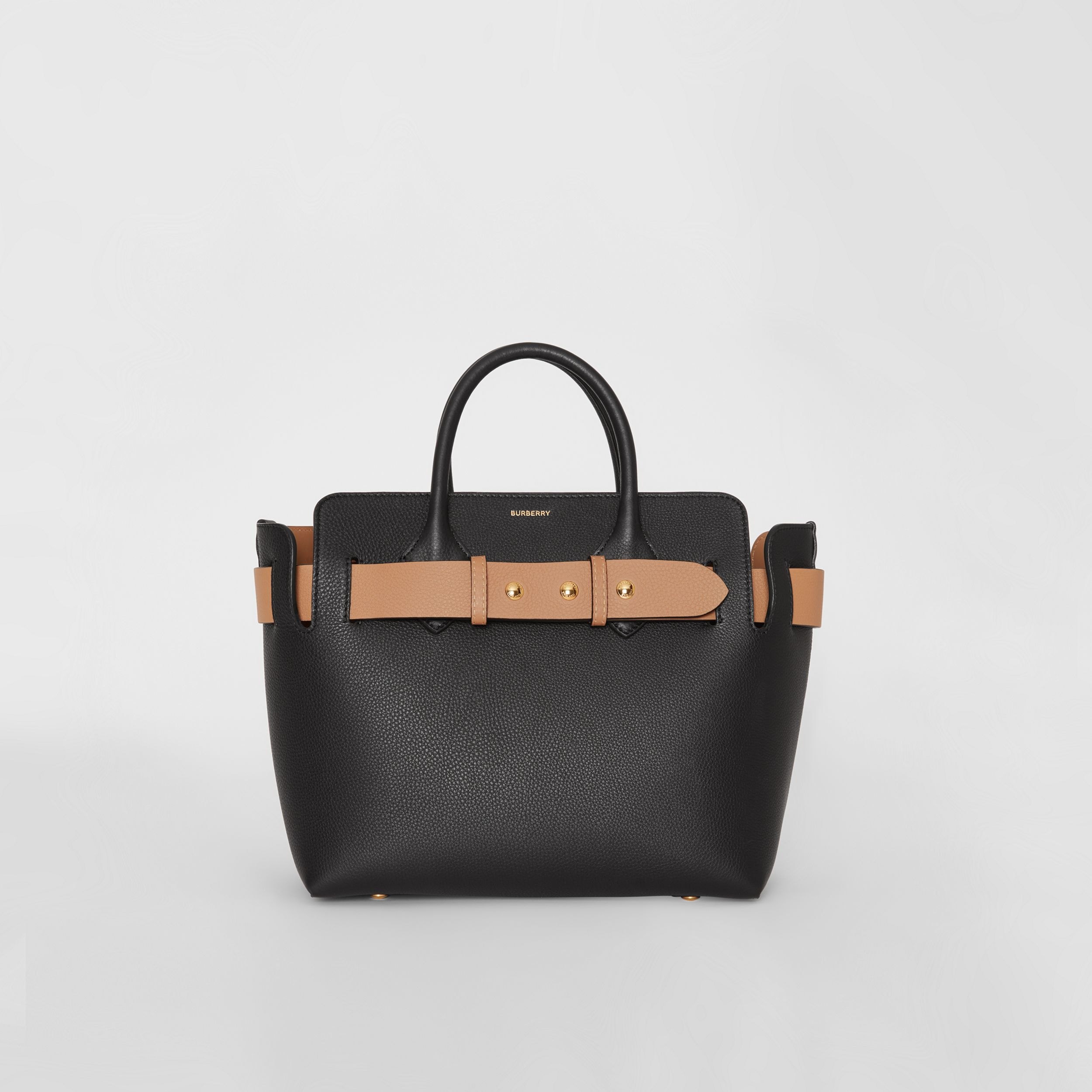 The Small Leather Triple Stud Belt Bag in Black - Women | Burberry - 1