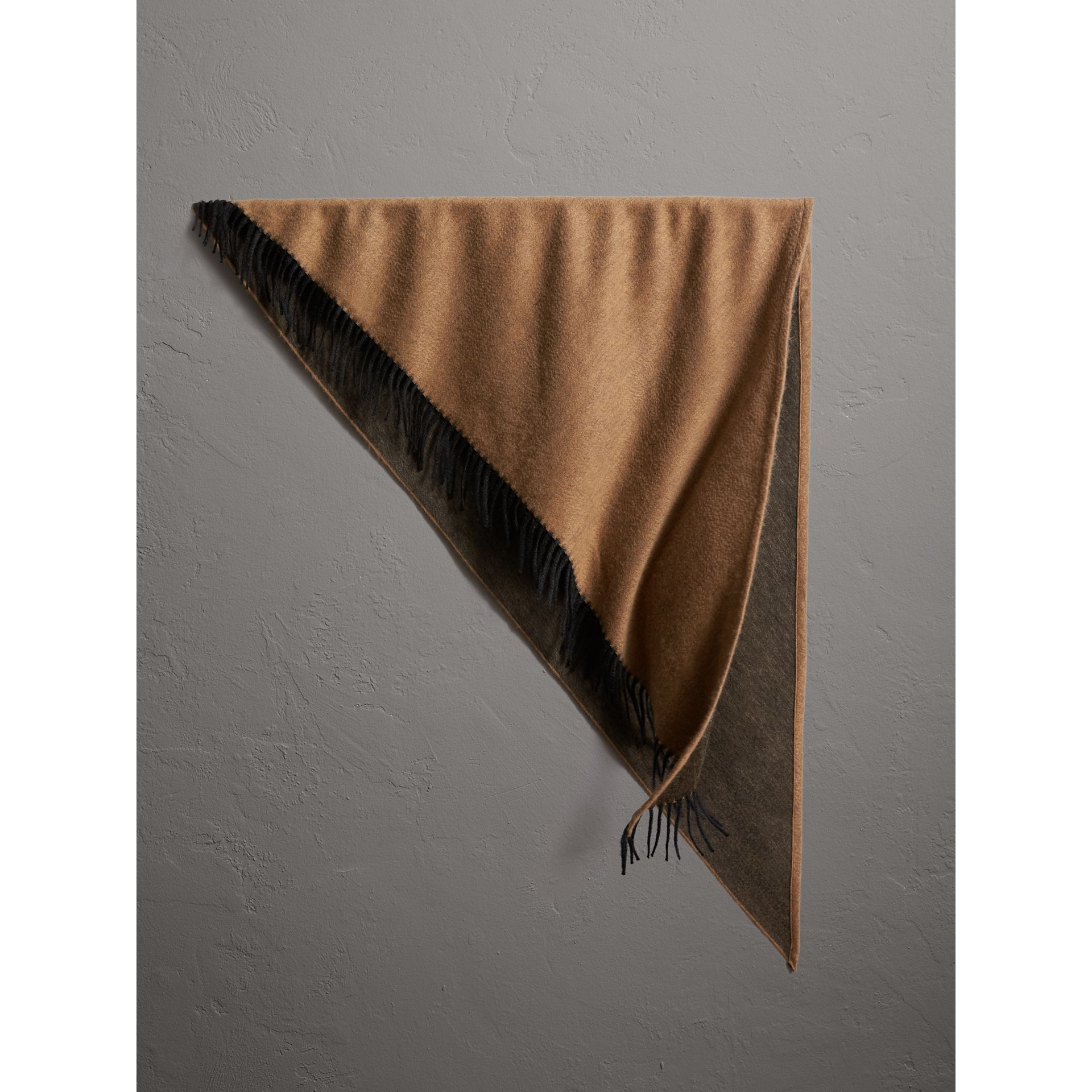 The Burberry Bandana in Cashmere in Camel/black | Burberry - gallery image 1