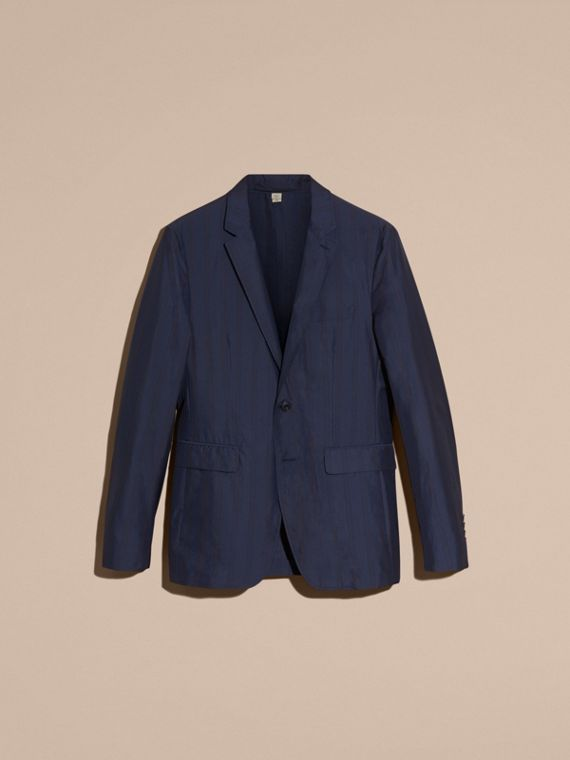 Navy Slim Fit Striped Lightweight Blazer - cell image 3