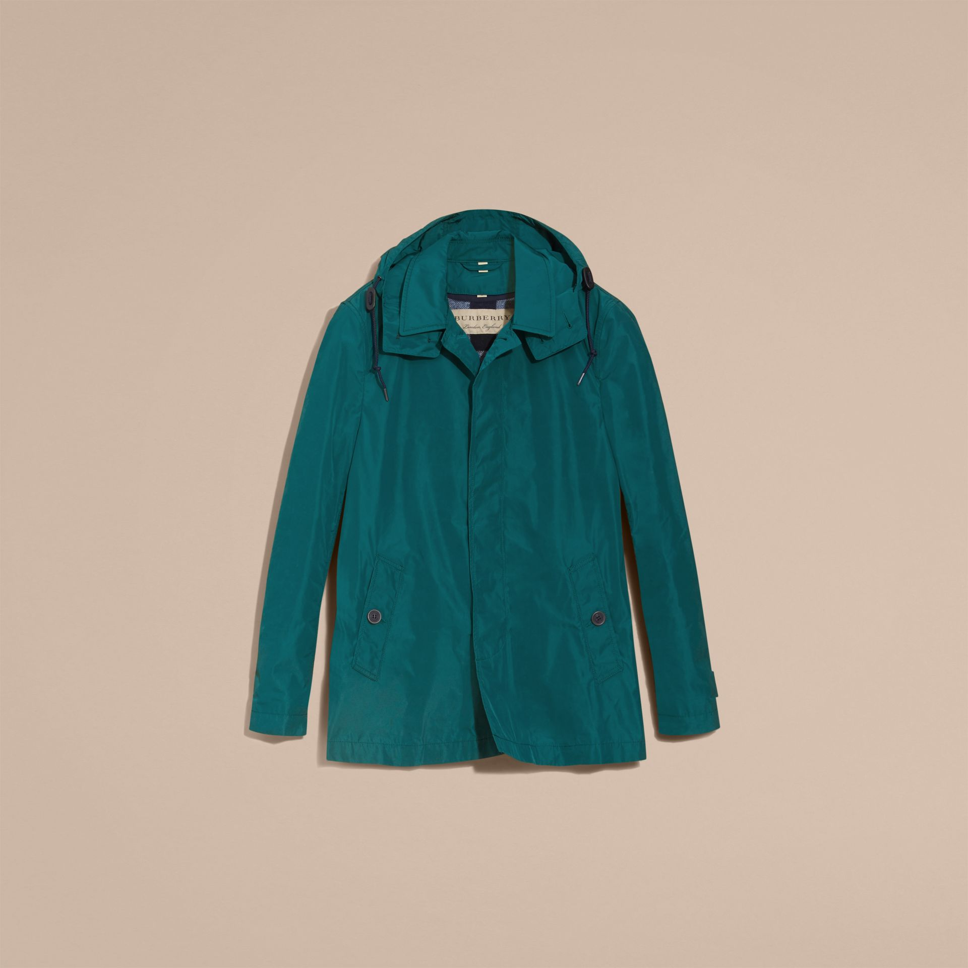 Showerproof Hooded Coat with Removable Warmer Bright Teal - gallery image 4