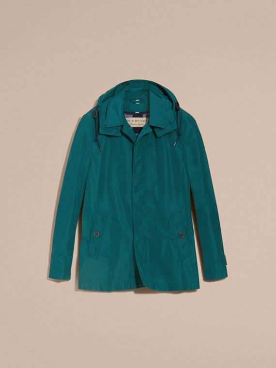 Showerproof Hooded Coat with Removable Warmer Bright Teal - cell image 3