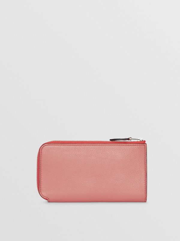 Two-tone Leather Ziparound Wallet and Coin Case in Dusty Rose - Women | Burberry United States - cell image 2