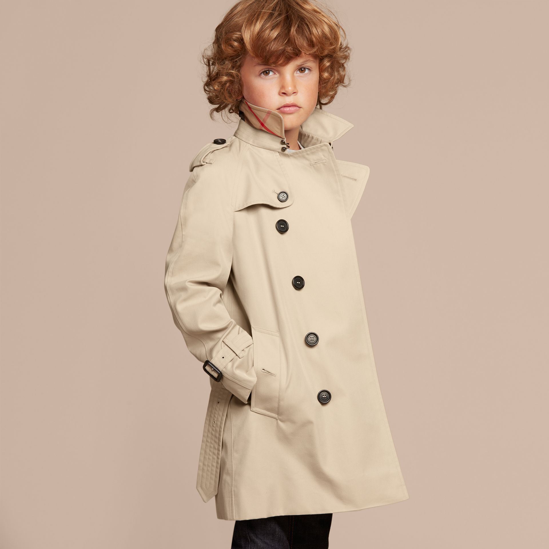 The Wiltshire – Heritage Trench Coat in Stone - Boy | Burberry Canada - gallery image 3