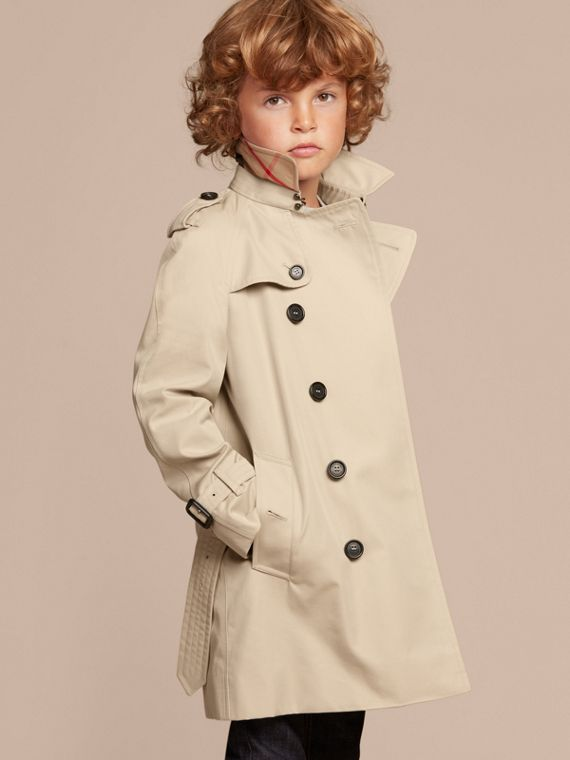 The Wiltshire – Heritage Trench Coat in Stone - Boy | Burberry - cell image 2