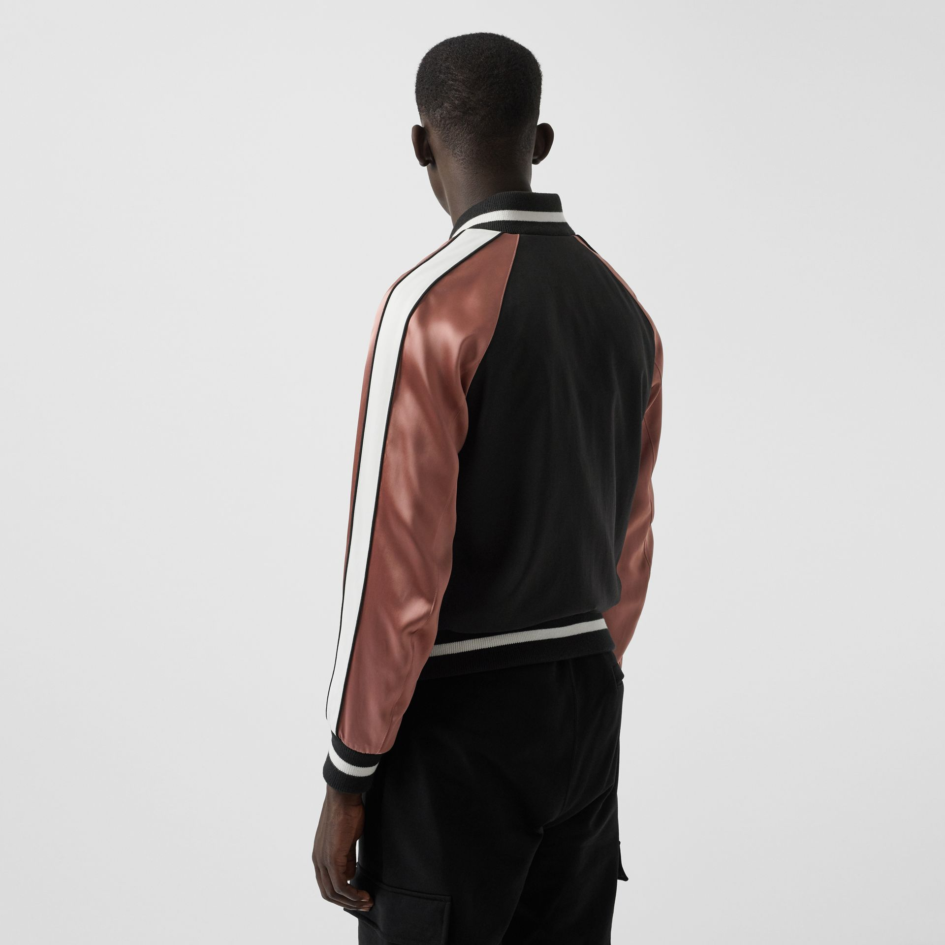 EKD Logo Nylon Varsity Jacket in Black - Men | Burberry United Kingdom - gallery image 2