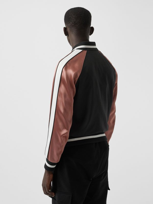 EKD Logo Nylon Varsity Jacket in Black - Men | Burberry - cell image 2