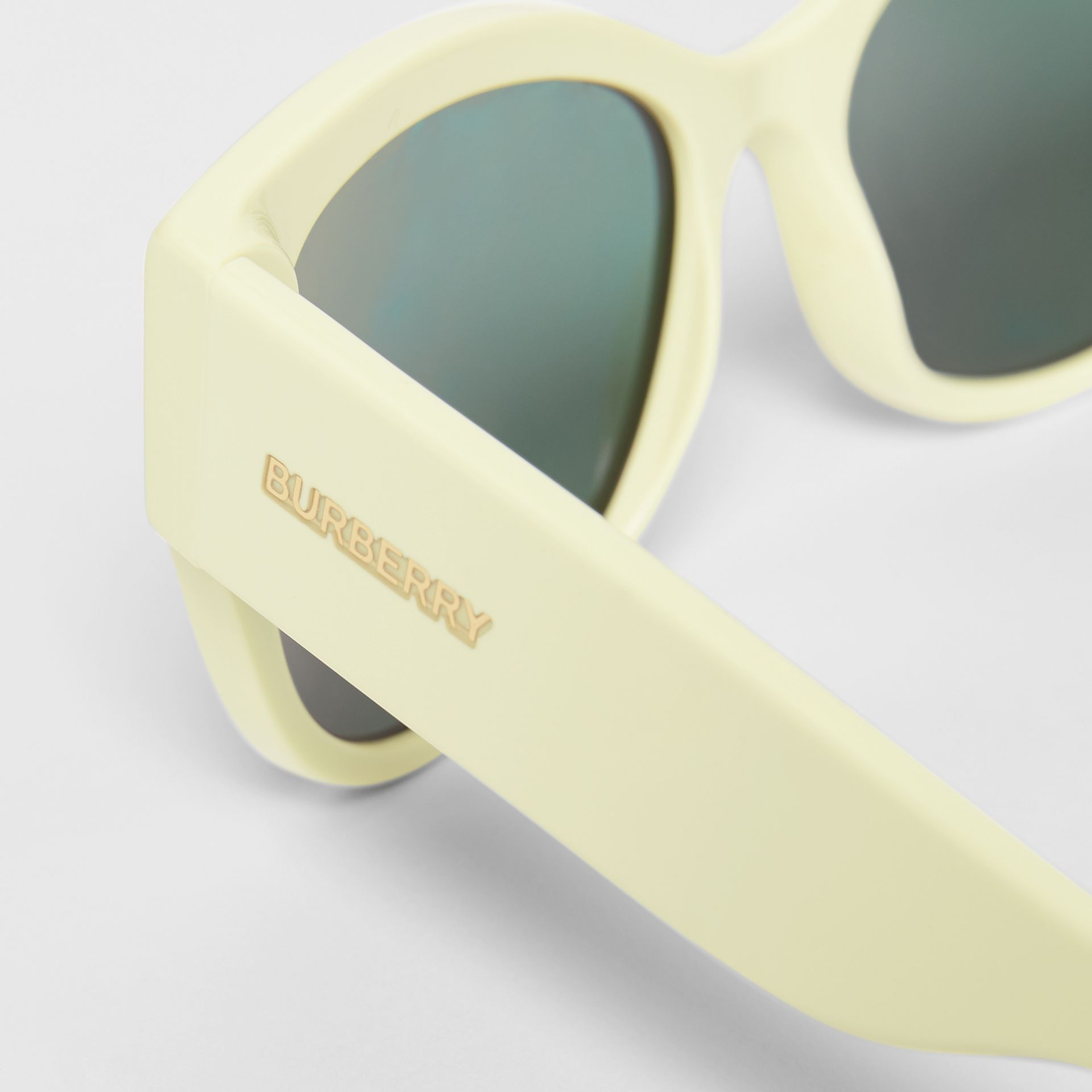 Butterfly Frame Sunglasses in Pistachio - Women | Burberry - gallery image 1