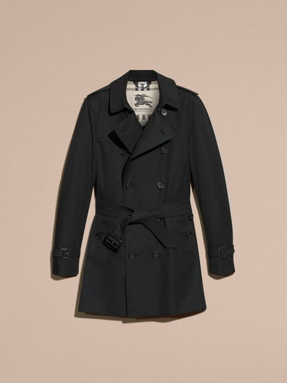 Black The Sandringham – Mid-length Heritage Trench Coat Black - cell image 3