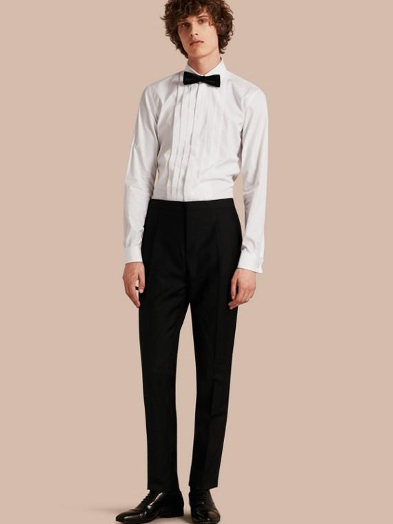 Modern Fit Wool Mohair Tuxedo Trousers