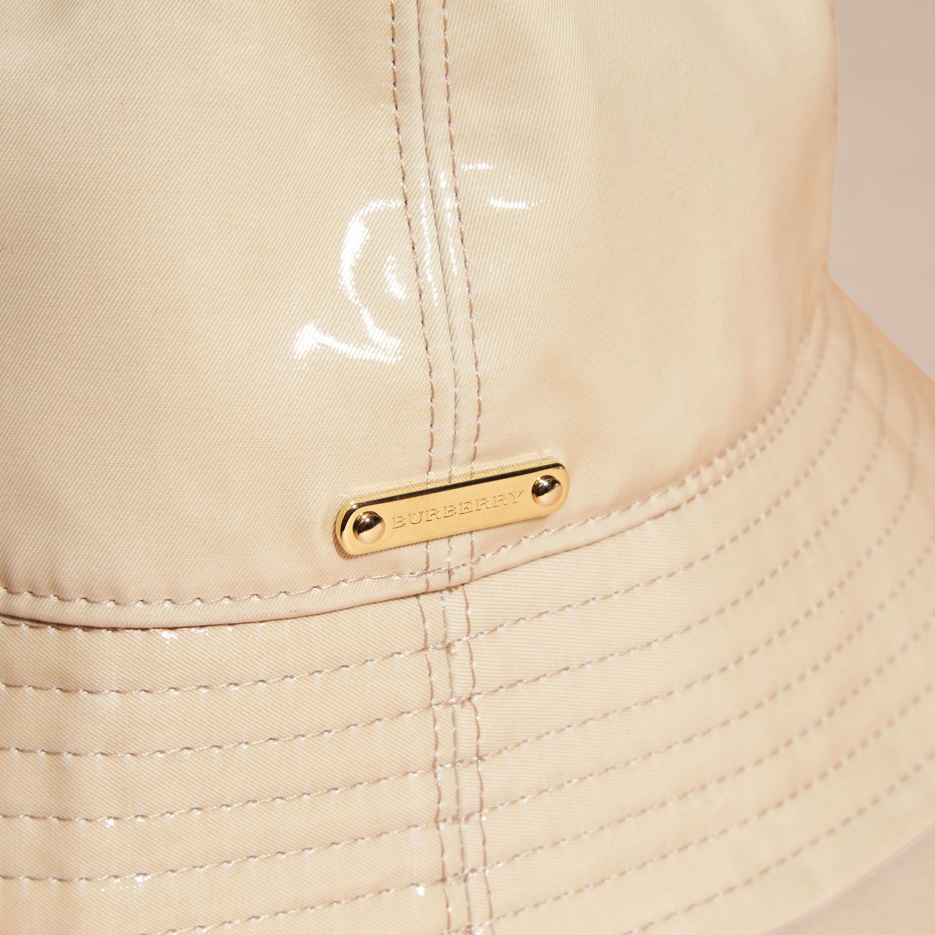 Stone Coated Cotton Gabardine Bucket Hat - gallery image 3