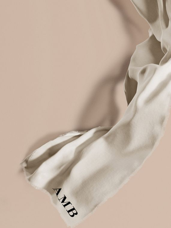 The Lightweight Cashmere Scarf in Natural White