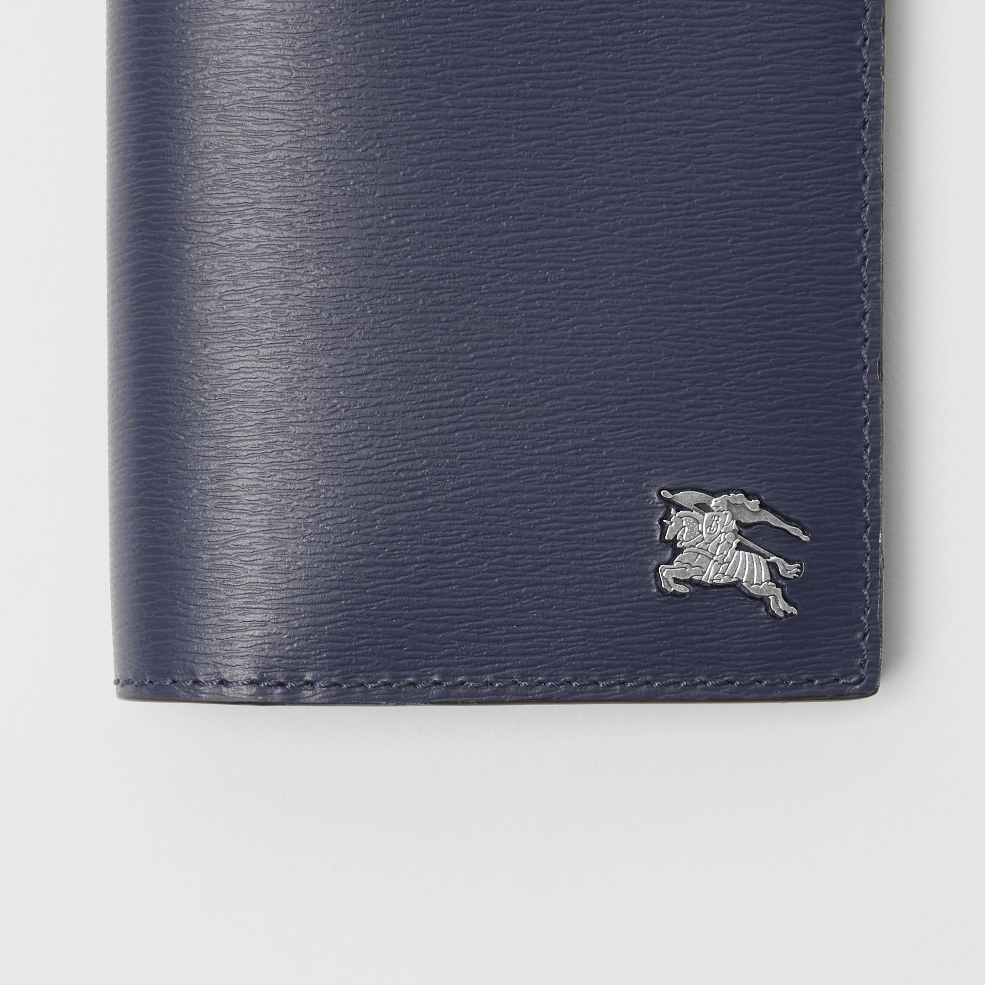 London Leather Continental Wallet in Navy - Men | Burberry Singapore - gallery image 1