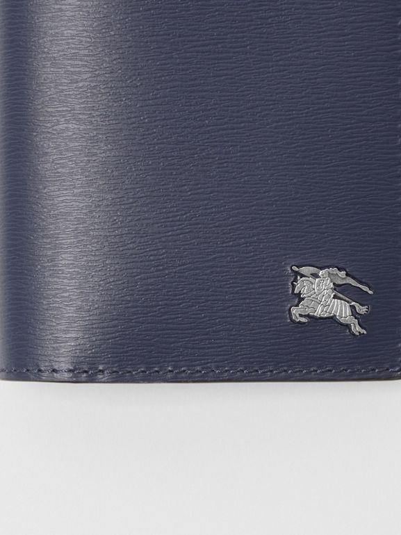 London Leather Continental Wallet in Navy - Men | Burberry Singapore - cell image 1