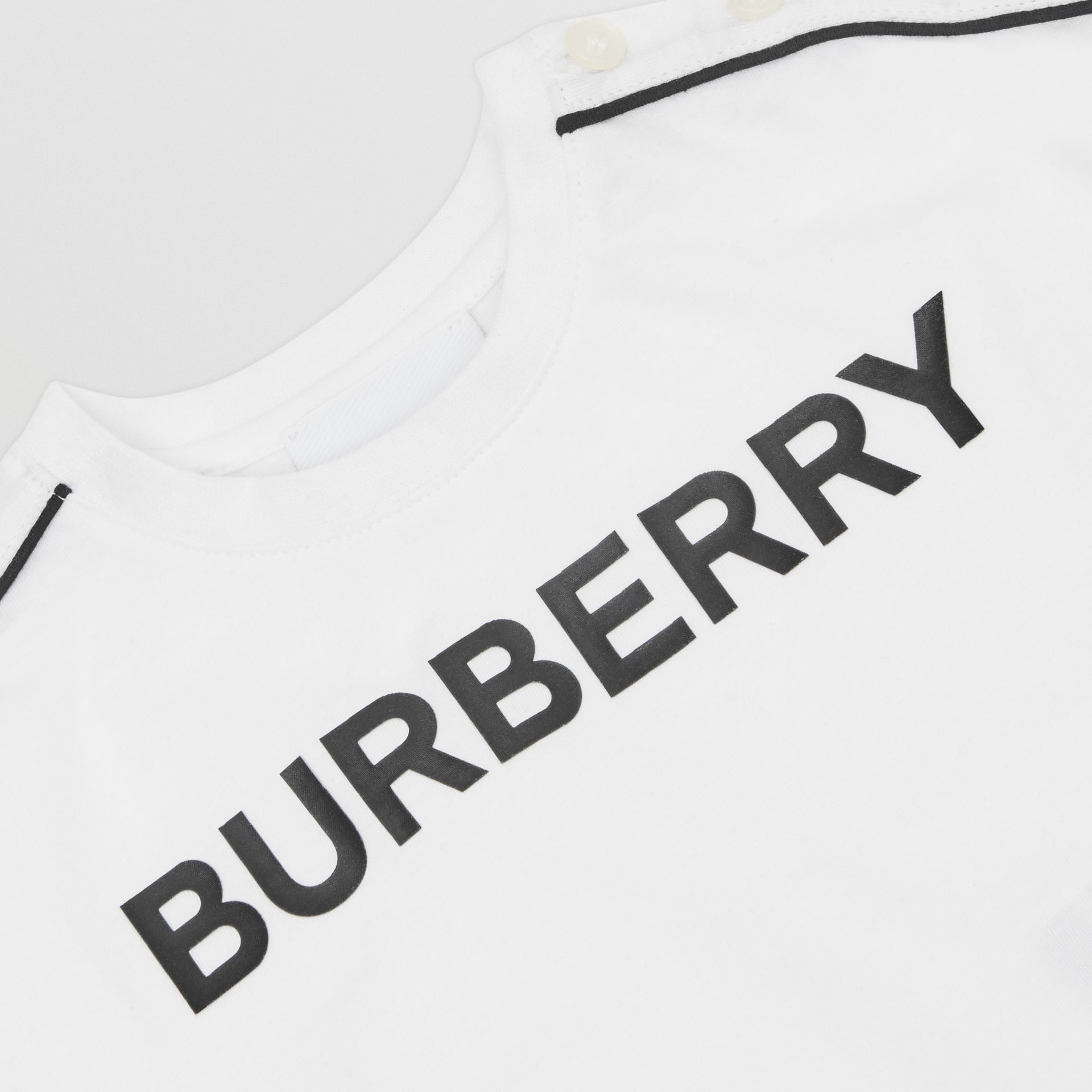 Logo Cotton T-shirt in White - Children | Burberry United Kingdom - gallery image 1