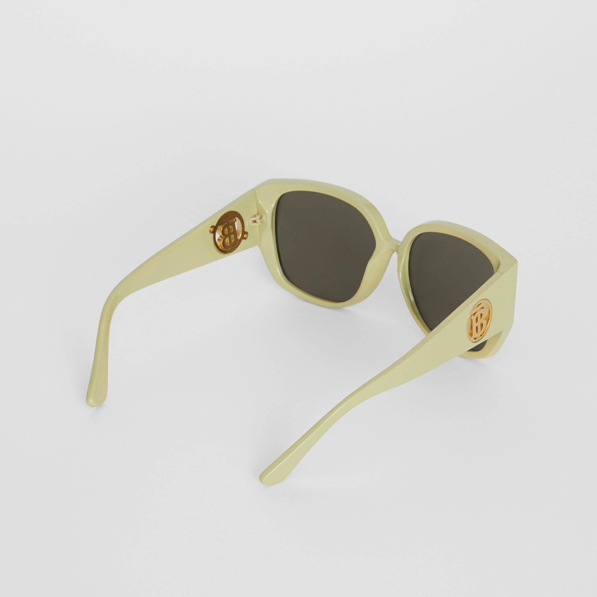 Oversized Butterfly Frame Sunglasses in Pistachio - Women | Burberry - gallery image 4