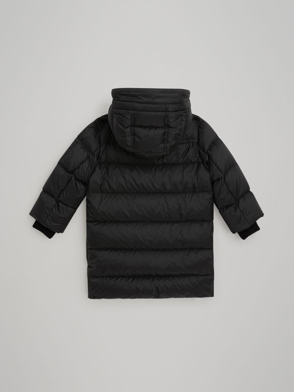 Detachable Hood Down-filled Puffer Coat in Black | Burberry United States - cell image 3