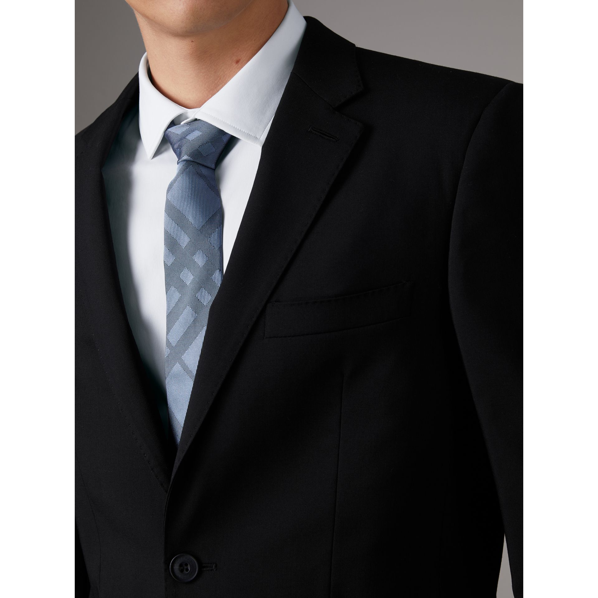 Slim Fit Wool Suit in Black - Men | Burberry Singapore - gallery image 5