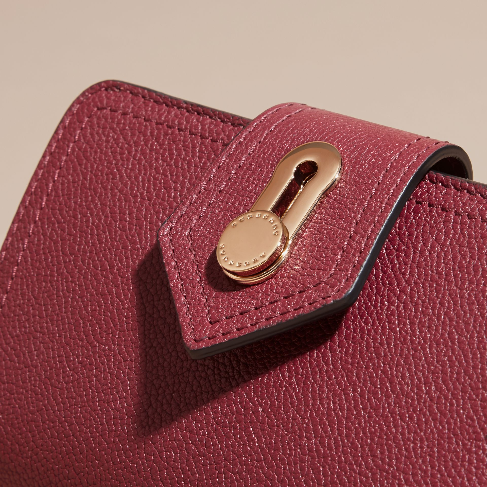 Dark plum Grainy Leather Wallet Dark Plum - gallery image 2