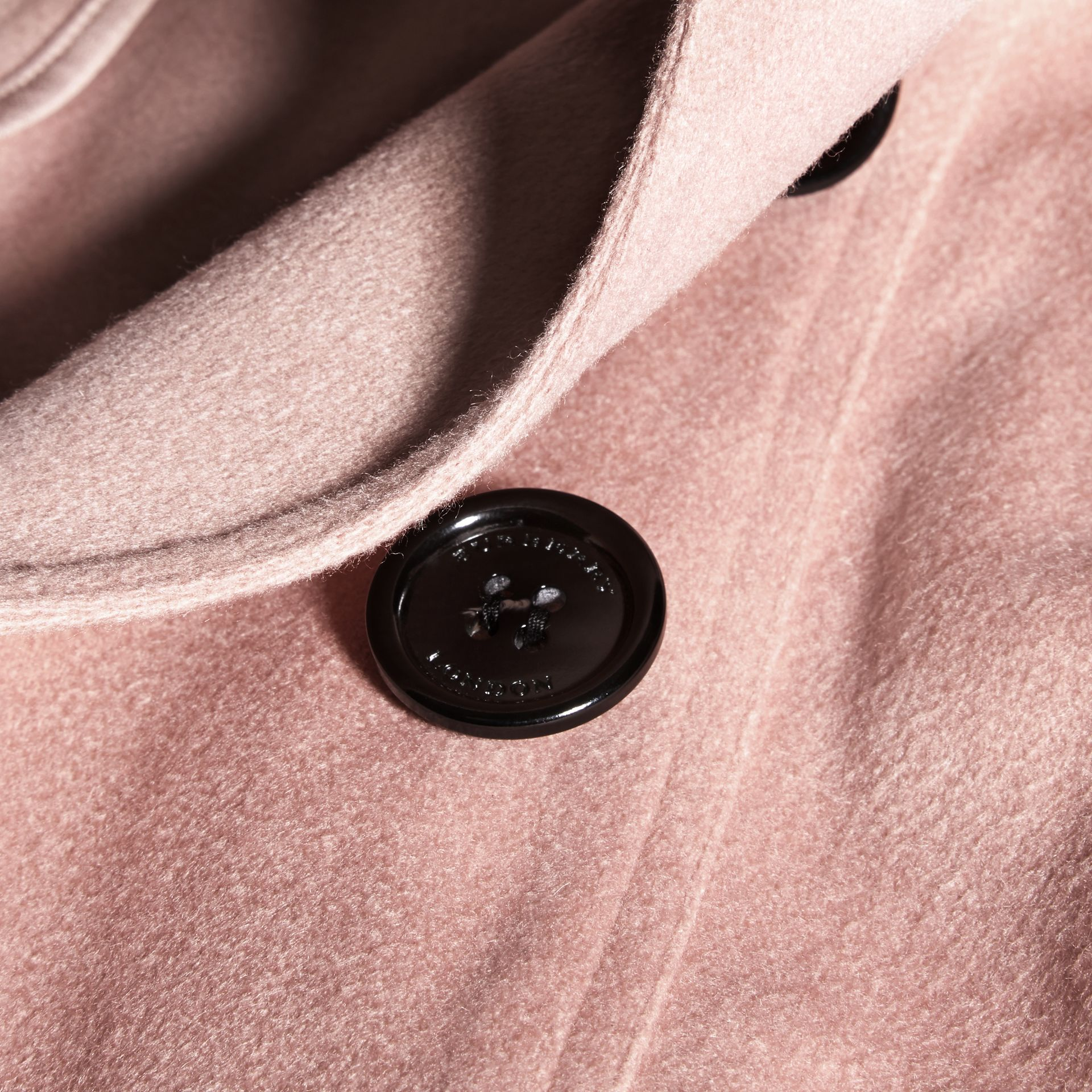 Sandringham Fit Cashmere Trench Coat Chalk Pink - gallery image 2