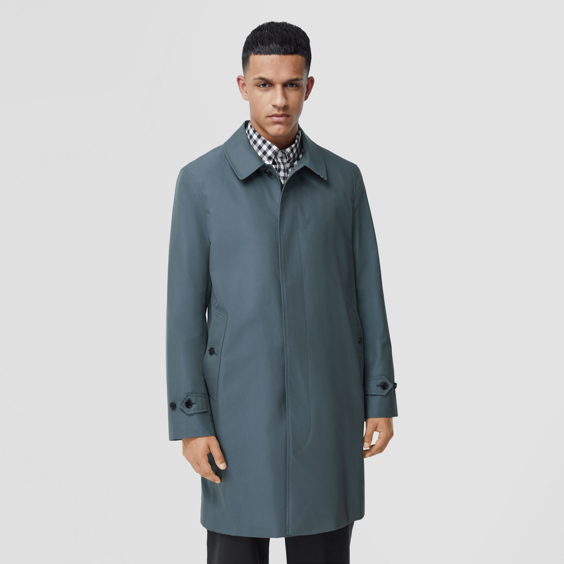 The Pimlico Heritage Car Coat in Blue - Men | Burberry - gallery image 6