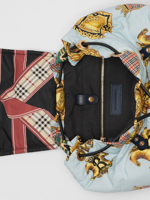 The Large Rucksack in Archive Scarf Print in Black - Men | Burberry - cell image 3