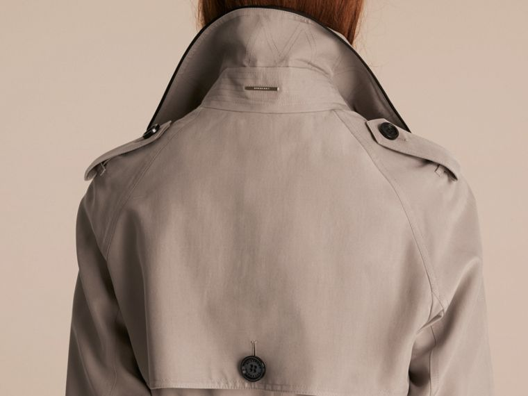 Pale taupe Oversize Detail Silk Trench Coat Pale Taupe - cell image 4