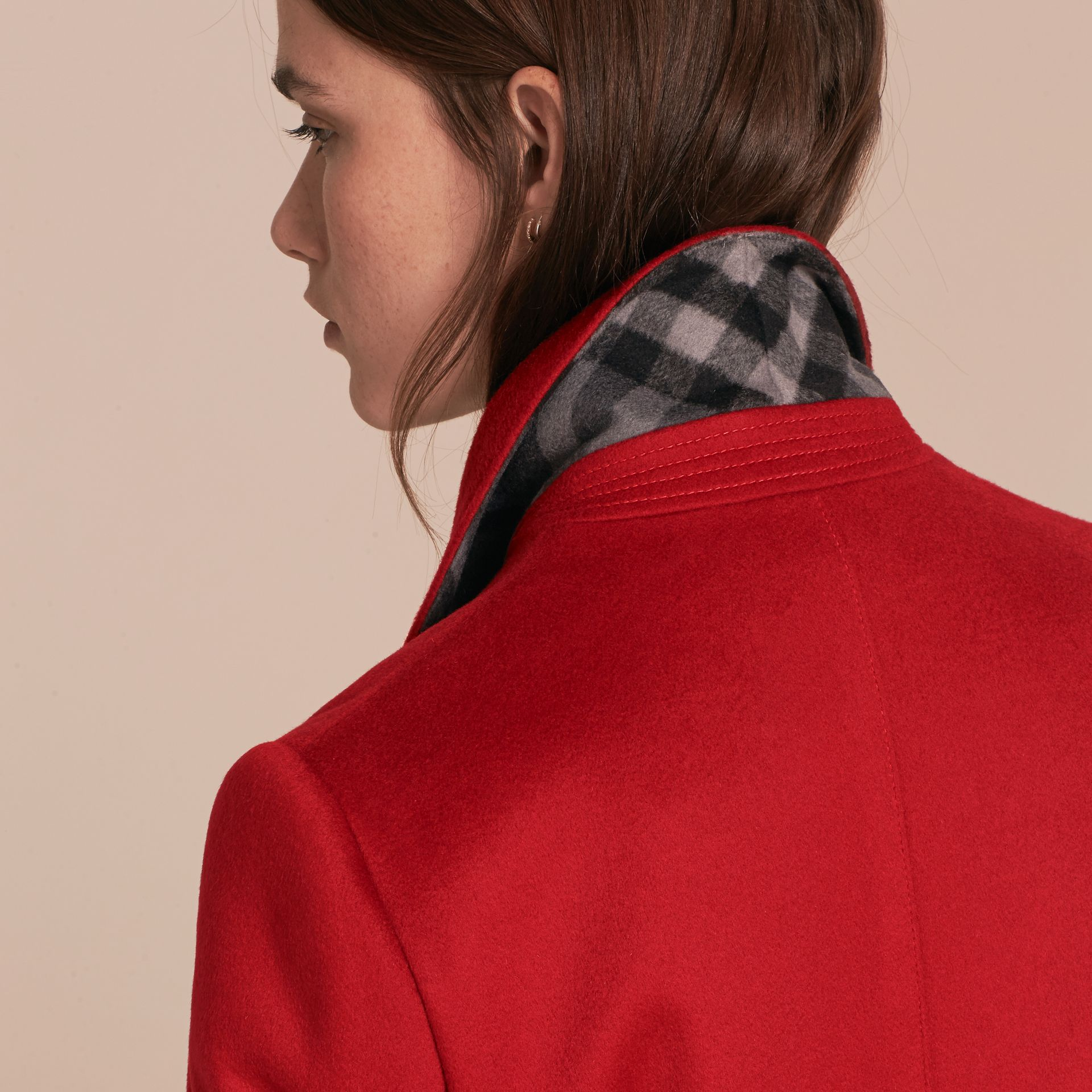 Parade red Tailored Wool Cashmere Coat with Bell Sleeves Parade - gallery image 5