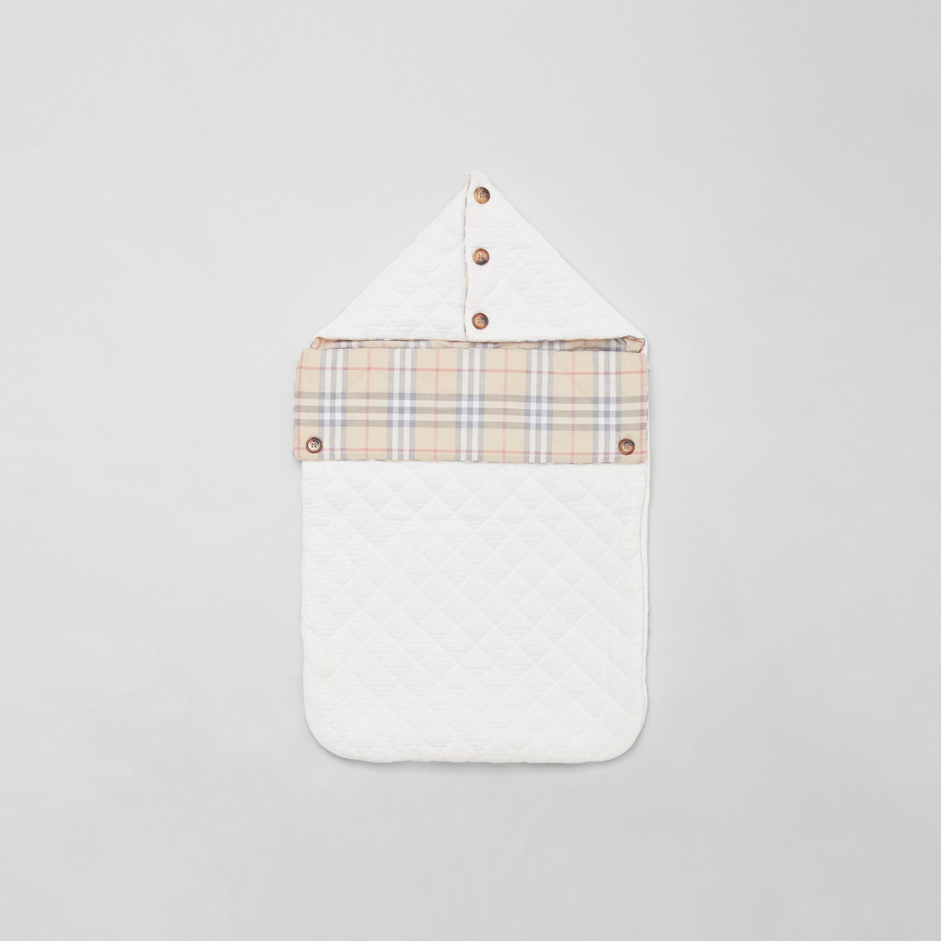 Vintage Check Cotton Baby Nest in White - Children | Burberry Singapore - gallery image 2