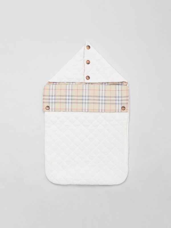 Vintage Check Cotton Baby Nest in White - Children | Burberry Singapore - cell image 2