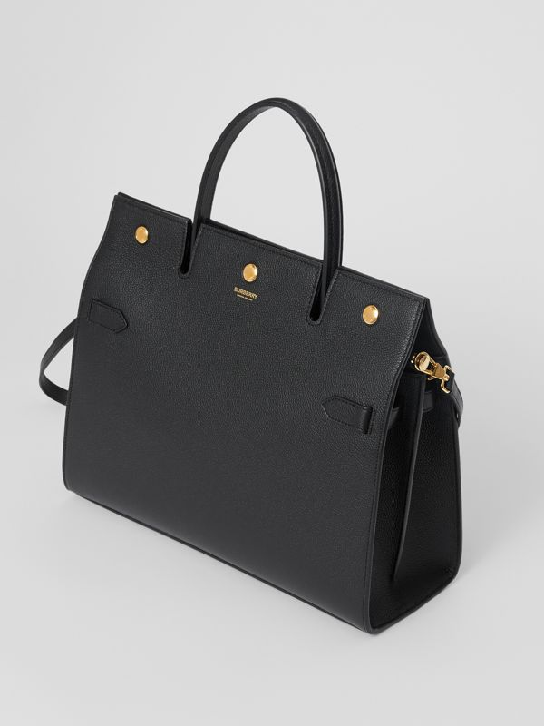 Medium Leather Title Bag in Black - Women | Burberry - cell image 3