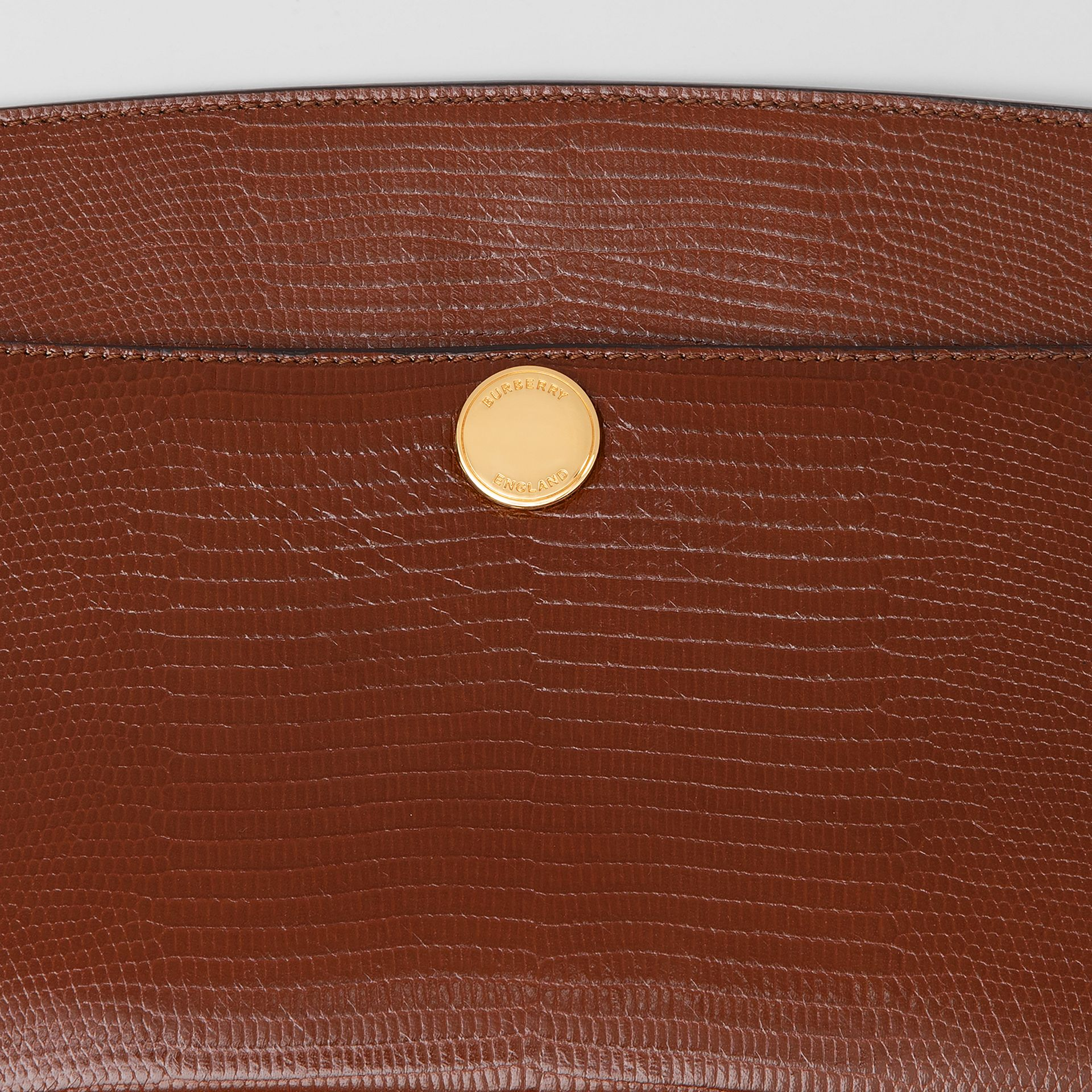 Embossed Deerskin Society Clutch in Tan - Women | Burberry - gallery image 1