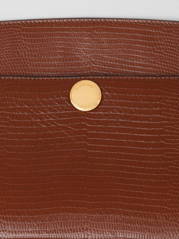 Embossed Deerskin Society Clutch in Tan - Women | Burberry - cell image 1