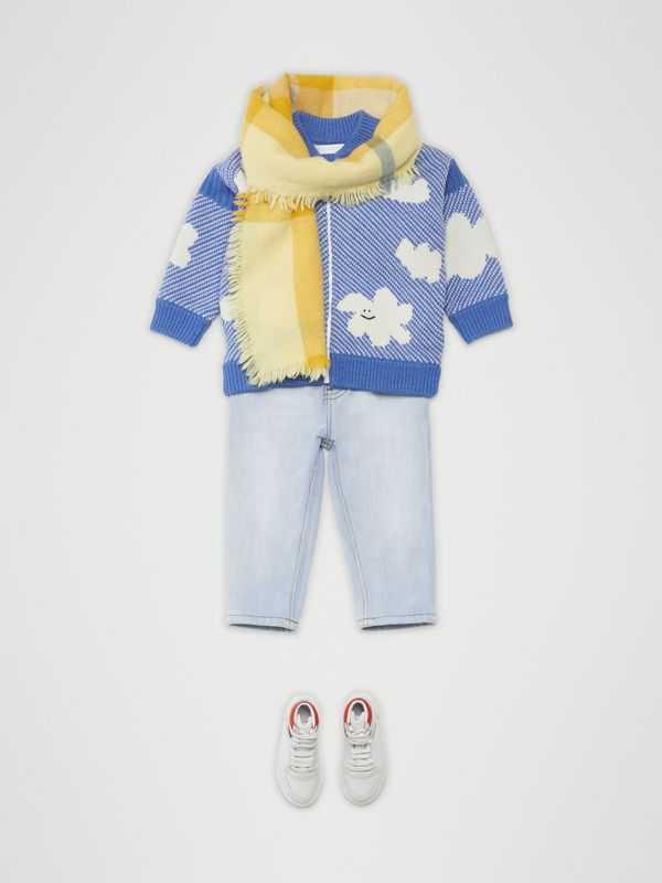 Relaxed Fit Stretch Denim Jeans in Light Blue - Children | Burberry - cell image 3