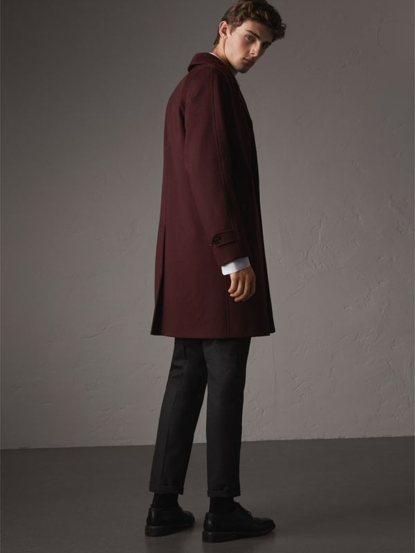 Cashmere Car Coat in Deep Claret Melange - Men | Burberry - cell image 2
