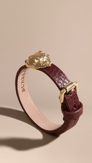 Ladybird Motif Leather Cuff