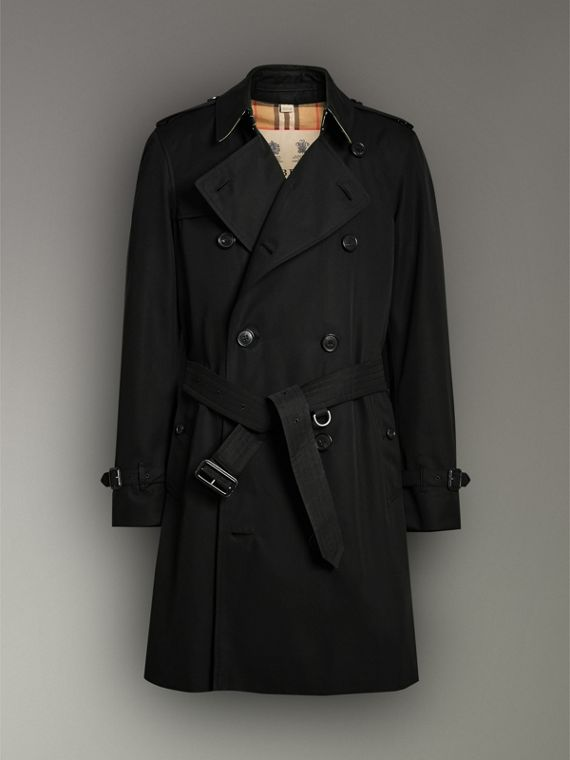 The Chelsea Heritage Trench Coat in Black - Men | Burberry Hong Kong - cell image 3