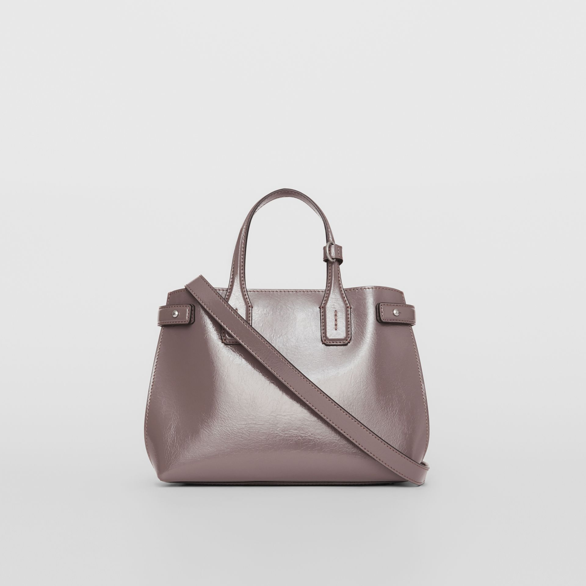 The Small Soft Leather Banner in Sepia Grey - Women | Burberry - gallery image 5