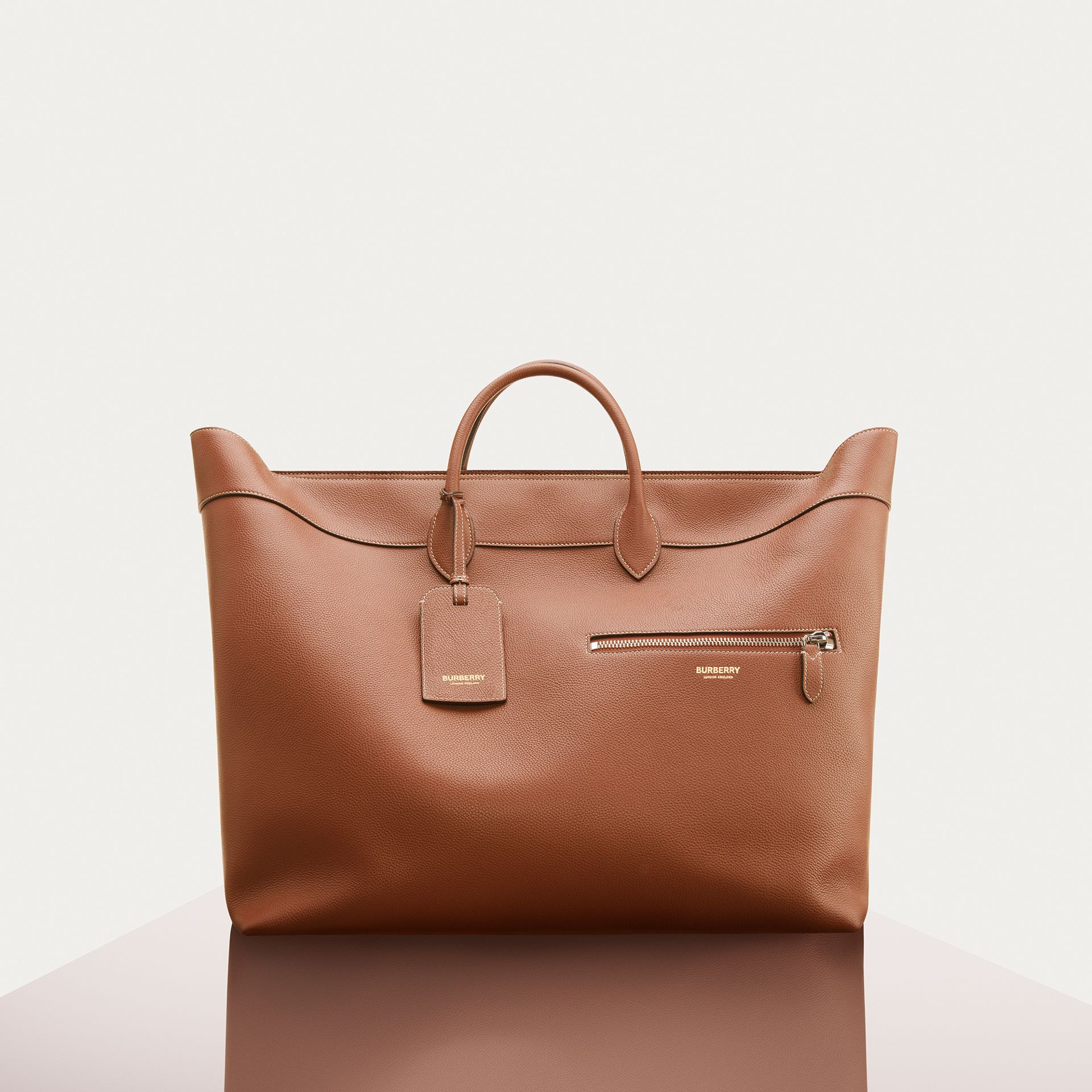 Grainy Leather Holdall in Tan - Men | Burberry Hong Kong S.A.R - gallery image 7