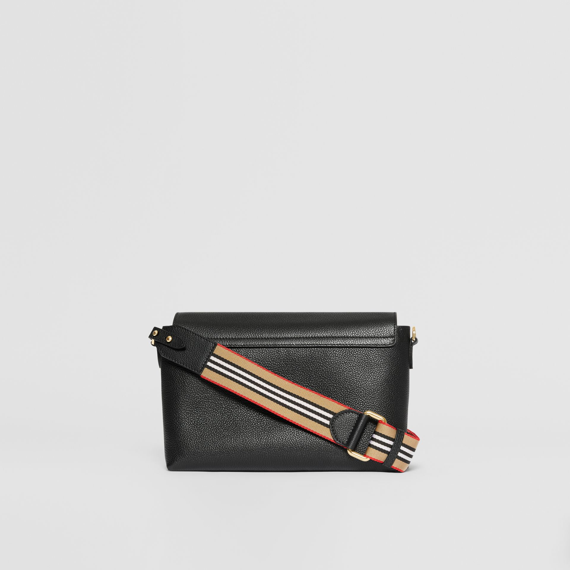 Grainy Leather Note Crossbody Bag in Black - Women | Burberry - gallery image 7