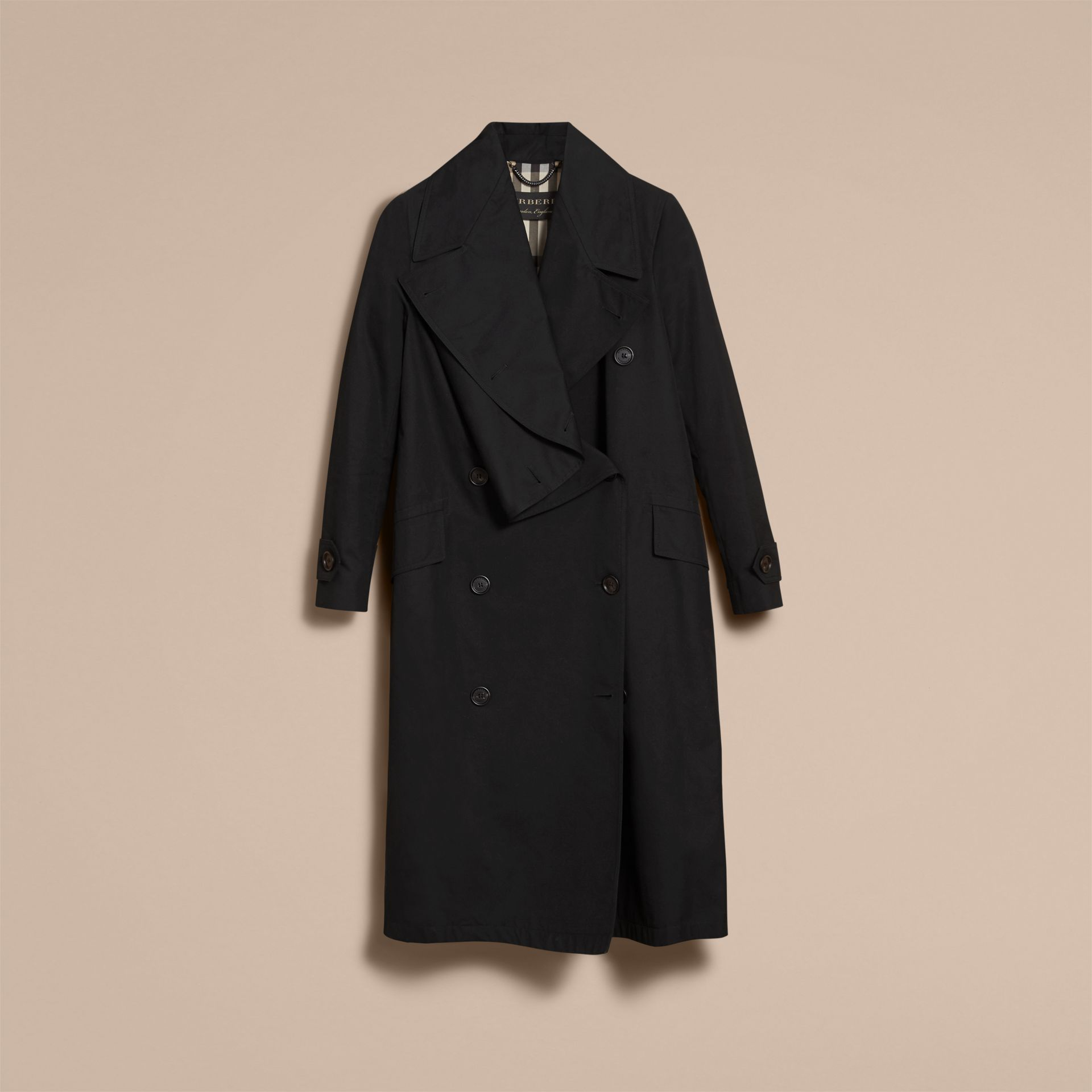Cotton Gabardine Coat with Curved Closure - Women | Burberry - gallery image 4