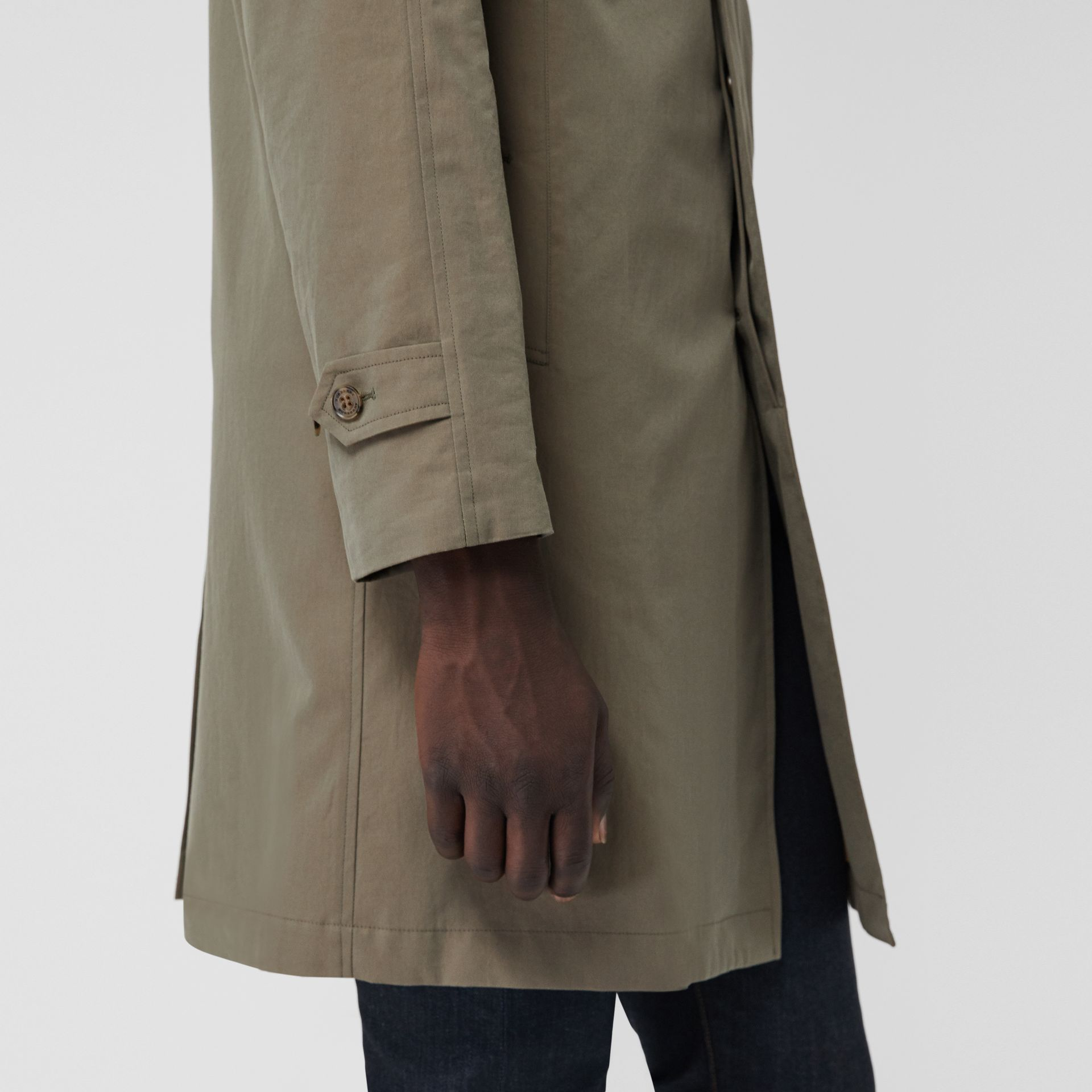 The Camden Car Coat in Chalk Green - Men | Burberry United Kingdom - gallery image 5